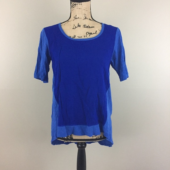 Anthropologie Tops - Anthropologie Left of Center High Low Tee, Blue, S